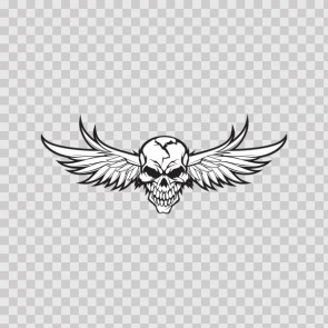 High Detailed Skull With Angel Wings 05762