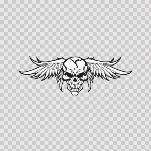 High Detailed Skull With Angel Wings 05763