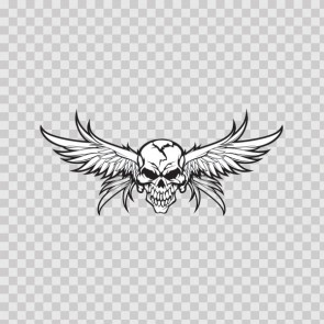 High Detailed Skull With Angel Wings 05764