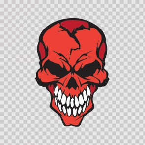 Red Skull With White Teeth 05766
