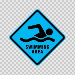Swimming Area Sign 05785