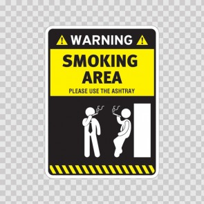 Smoking Area – Please Use The Ashtray 05788