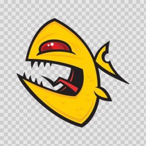 Angry Piranha Fish 06028