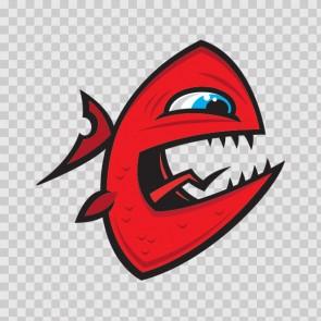 Angry Piranha Fish 06029