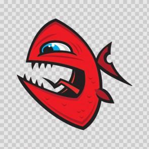 Angry Piranha Fish 06030