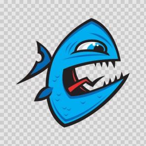 Angry Piranha Fish 06031