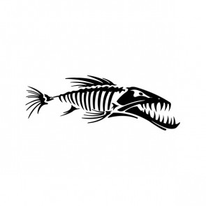 Fish Bones Skull Skeleton 06182