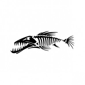 Fish Bones Skull Skeleton 06183