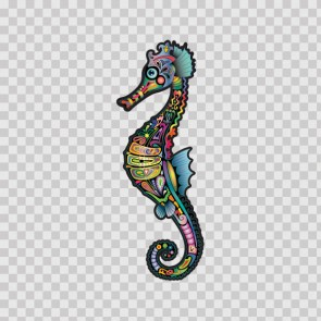 Sea Horse floral Ethnic 06299