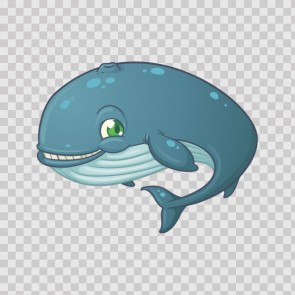 Cartoon Whale Smiles 06323