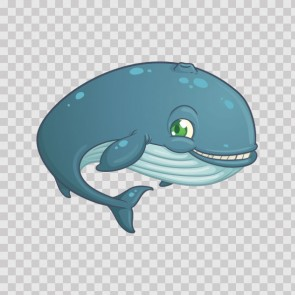 Cartoon Whale Smiles 06324