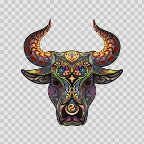Fantasy Floral Bull Head 06484