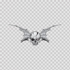 Pair Of Wings Bat Skull 06709