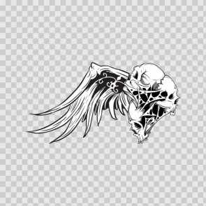 Wings With Skull 06710