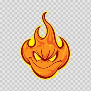 Evil Flame Face 06932