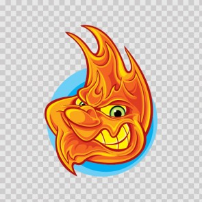 Evil Flame Face 06933
