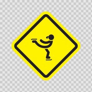 Ice Skating Sign 07001