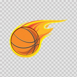 Basketball With Flames 07087