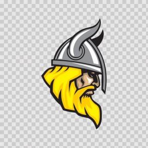 Viking Warrior Head With Helmet 07352
