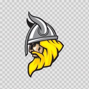 Viking Warrior Head With Helmet 07353