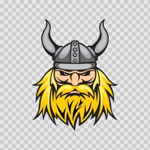 Viking Warrior Head With Helmet 07362