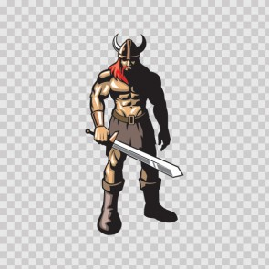 Red Hair Viking Warrior With Sword 07372