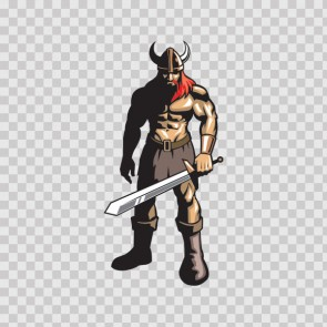 Red Hair Viking Warrior With Sword 07373