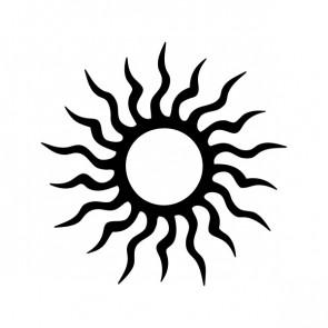 Tribal Design Tatto Style Sun 07437