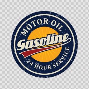 Vintage Sign Motor Oil Gasoline 07582