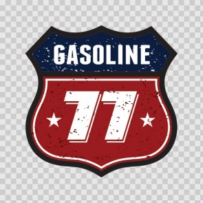 Vintage Sign Gasoline 77 07586