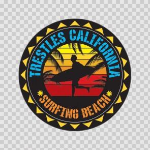 Trestless California Souvenir Memorabilia Surfing Beach 07658