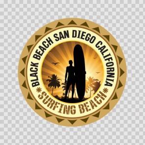 Black Beach San Diego California Souvenir Memorabilia Surfing Beach 07821