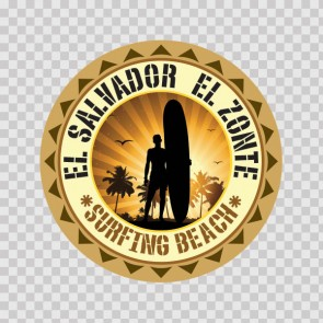 El Salvador El Zonte Souvenir Memorabilia Surfing Beach 07822