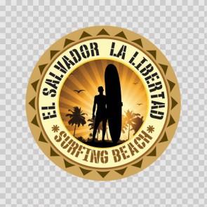 La Libertad El Salvador Souvenir Memorabilia Surfing Beach 07823