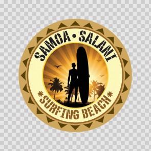 Samoa Salani Souvenir Memorabilia Surfing Beach 07832