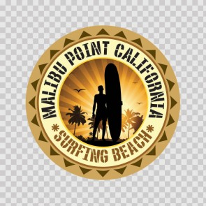 California Malibu Point Souvenir Memorabilia Surfing Beach 07836