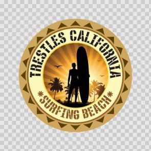 Trestless California Souvenir Memorabilia Surfing Beach 07837
