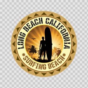 Long Beach California Souvenir Memorabilia Surfing Beach 07839