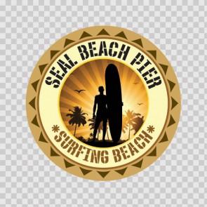 Seal Beach Pier Souvenir Memorabilia Surfing Beach 07840