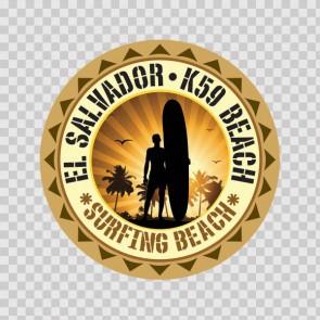 El Salvador K59 Beach Souvenir Memorabilia Surfing Beach 07842