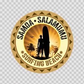 Samoa Salamumu Souvenir Memorabilia Surfing Beach 07844