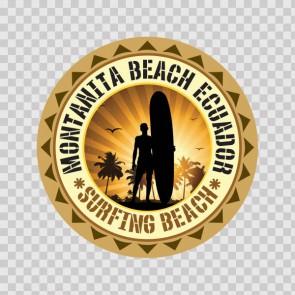 Montanita Beach Ecuador Souvenir Memorabilia Surfing Beach 07845