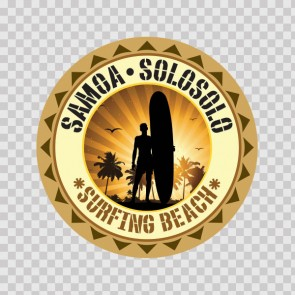 Samoa Solosolo Souvenir Memorabilia Surfing Beach 07847