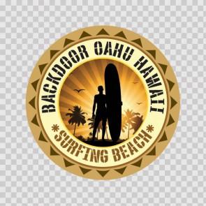 Backdoor Oahu Hawai Souvenir Memorabilia Surfing Beach 07849
