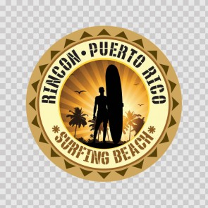 Rincon Puerto Rico Souvenir Memorabilia Surfing Beach 07850