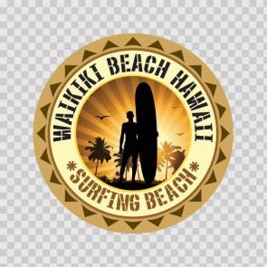 Waikiki Beach Hawai Souvenir Memorabilia Surfing Beach 07851