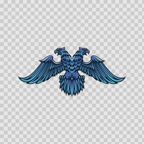 Heraldic Eagle Blue 07933