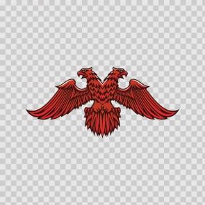 Heraldic Eagle Red 07935