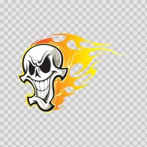 Skull In Flames 08134