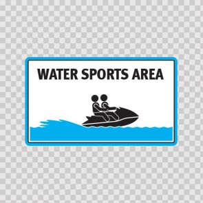 Water Sports Area Sign 08170